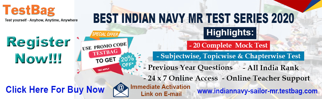 INDIAN-NAVY-MR-2019 Free Mock Test, Online Test Series, Mock Test